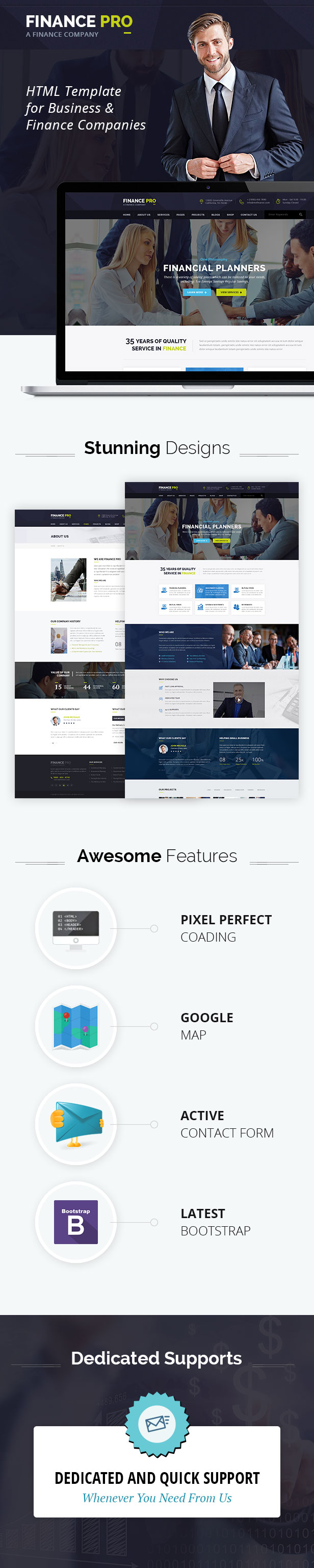 Finantec Pro : Finance and Business HTML Template - 1