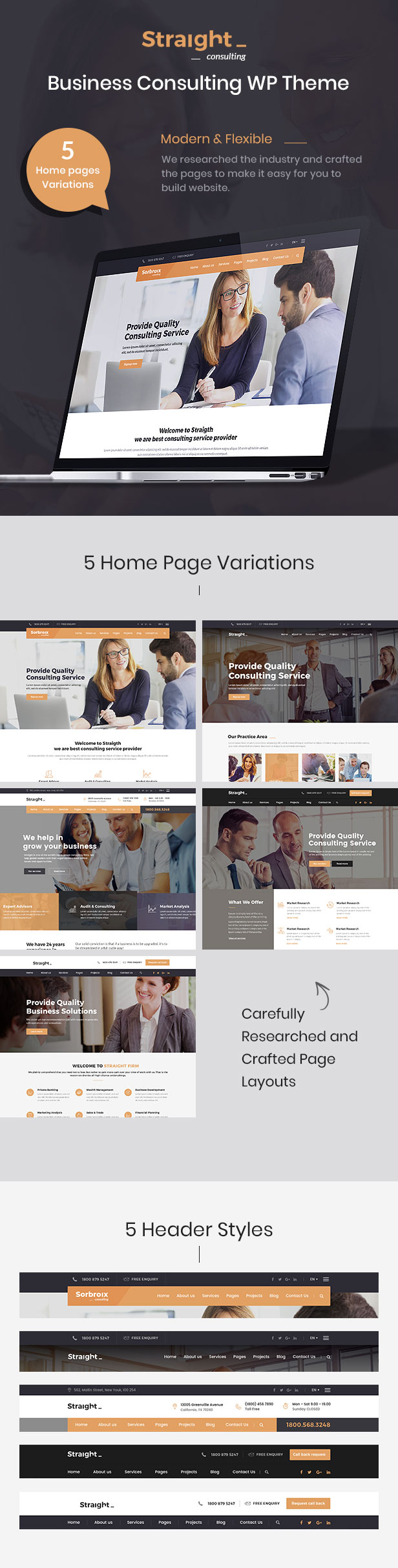 Straight - Business & Consulting HTML Template - 2